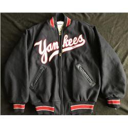 Mickey Mantle Signed New York Yankees Mitchell  Ness Warm-Up Jacket (JSA LOA)