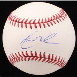 Aaron Nola Signed OML Baseball (JSA Hologram)