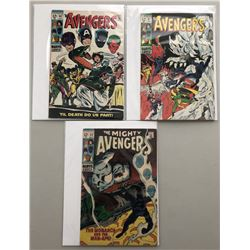 """Lot of (3) 1969 """"The Avengers"""" First Issue Marvel Comic Books with Issue #60, Issue #61  Issue #62"""