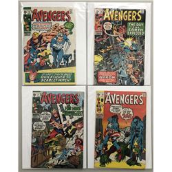 """Lot of (4) 1970 """"The Avengers"""" First Issue Marvel Comic Books with Issue #75, Issue #76, Issue #77"""