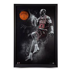 "Michael Jordan Signed Chicago Bulls ""No Look"" 44x64 Custom Framed Photo Display (UDA COA)"