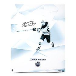"Connor McDavid Signed Edmonton Oilers ""Clarity"" 16x20 Photo (UDA COA)"