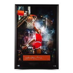 """Julius """"Dr. J"""" Erving Signed Philadelphia 76ers 28x40 Custom Framed Limited Edition Cut Display (UDA"""