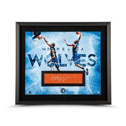 Andrew Wiggins Signed Minnesota Timberwolves 24x28 Custom Framed Limited Edition Cut Display (UDA CO