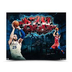 "Ben Simmons Signed Philadelphia 76ers 24x30 Limited Edition Photo Inscribed ""Fresh Prince"" (UDA COA)"