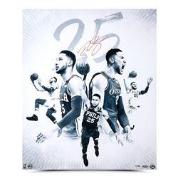 "Ben Simmons Signed Philadelphia 76ers ""25 Blue"" 20x24 Limited Edition Photo (UDA COA)"