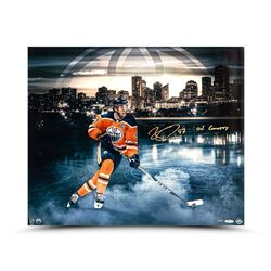 """Connor McDavid Signed Edmonton Oilers 20x24 Limited Edition Photo Inscribed """"Oil Country"""" (UDA COA)"""