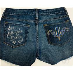 """Catherine Bach Signed """"Daisy Duke"""" Shorts (JSA COA)"""