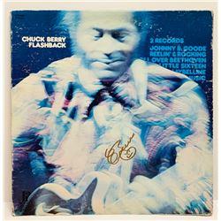"Chuck Berry Signed ""Flashback"" LP Cover (JSA COA)"