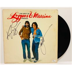 "Kenny Loggins  Jim Messina Signed ""The Best Of Friends"" LP Cover (JSA COA)"