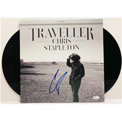"""Chris Stapleton Signed """"Traveler"""" LP Cover (JSA COA)"""