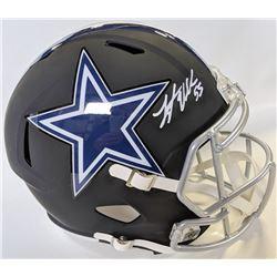 Leighton Vander Esch Signed Matte Black Dallas Cowboys Full-Size Speed Helmet (JSA COA)