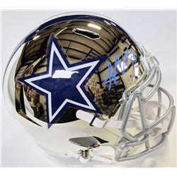 Leighton Vander Esch Signed Dallas Cowboys Full-Size Chrome Speed Helmet (JSA COA)
