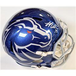 Leighton Vander Esch Signed Boise State Broncos Full-Size Speed Helmet (JSA COA)