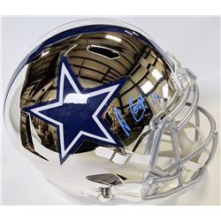 Amari Cooper Signed Cowboys Full-Size Chrome Speed Helmet (Beckett COA)