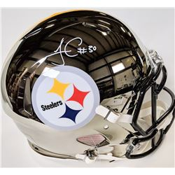 James Conner Signed Pittsburgh Steelers Full-Size Authentic On-Field Chrome Speed Helmet (Beckett CO