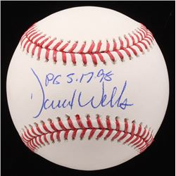 "David Wells Signed OML Baseball Inscribed ""PG 5-17-98"" (JSA COA)"