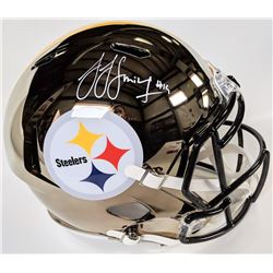 JuJu Smith-Schuster Signed Pittsburgh Steelers Full-Size Chrome Speed Helmet (Beckett COA)