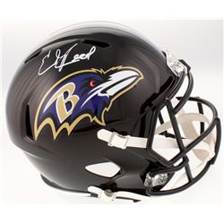 Ed Reed Signed Baltimore Ravens Full-Size Speed Helmet (Beckett COA)