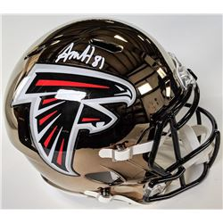 Austin Hooper Signed Atlanta Falcons Full-Size Chrome Speed Helmet (Beckett COA)