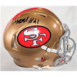 Matt Breida Signed San Francisco 49ers Full-Size Authentic On-Field Speed Helmet (Beckett COA)