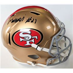 Matt Breida Signed San Francisco 49ers Full-Size Speed Helmet (Beckett COA)
