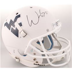 Will Grier Signed West Virginia Mountaineers Full-Size Custom Matte White Helmet (JSA COA)