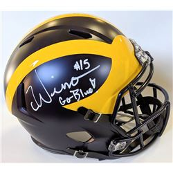 "Chase Winovich Signed Michigan Wolverines Full-Size Speed Helmet Inscribed ""Go Blue"" (JSA COA)"