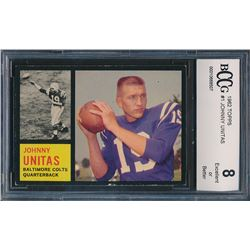 1962 Topps #1 Johnny Unitas (BCCG 8)