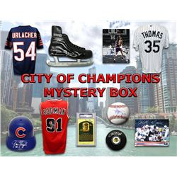 Chicago City of Champions Autograph Mystery Box - Series 3 (Limited to 100) (4 or 5 Signed Items Per