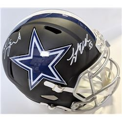 Leighton Vander Esch  Jaylon Smith Signed Dallas Cowboys Matte Black Full-Size Speed Helmet (JSA COA
