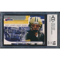 2001 Fleer Game Time Extra #125 Drew Brees (BCCG 10)