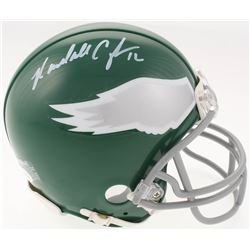 Randall Cunningham Signed Philadelphia Eagles Throwback Mini Helmet (JSA COA)