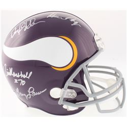 "Minnesota Vikings ""Purple People Eaters"" Full-Size Throwback Helmet Team-Signed by (4) with Carl Ell"