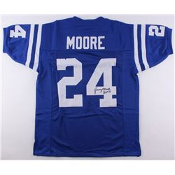 """Lenny Moore Signed Indianapolis Colts Jersey Inscribed """"HOF 75"""" (JSA COA)"""