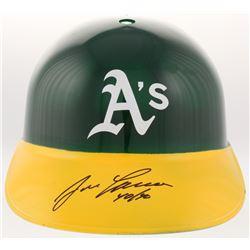 "Jose Canseco Signed Oakland Athletics Full-Size Batting Helmet Inscribed ""40/40"" (JSA COA)"