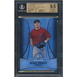 2010 Bowman Platinum Prospects Refractors Thick Stock #PP5 Mike Trout (BGS 9.5)