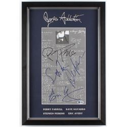 Jane's Addiction 13x19 Custom Framed Lyric Sheet Display Band-Signed by (4) with Perry Farrell, Dave
