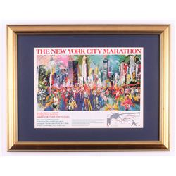 "LeRoy Neiman ""The New York City Marathon"" 17.5x22.5 Custom Framed Print"