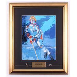 """LeRoy Neiman """"Wayne Gretzky"""" 16.5x20 Custom Framed Print with (2) Pins"""