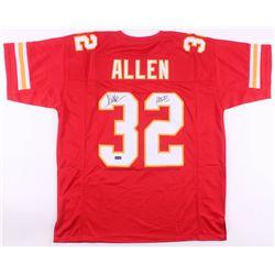 """Marcus Allen Sighed Kansas City Chiefs Jersey Inscribed """"HOF 03"""" (Radtke COA)"""