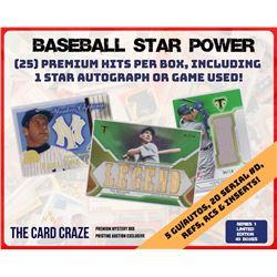 The Card Craze 'Baseball Star Power' Premium Multi-Sport Mystery Box (25 Cards Per Box)