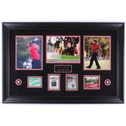 Tiger Woods 23.75x35.75 Custom Framed 2005 SP Signature Shots 8 x 10 #T4 Display