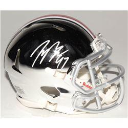 Joey Bosa Signed Ohio State Buckeyes Chrome Speed Mini Helmet (Radtke COA)