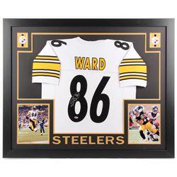 Hines Ward Signed Pittsburgh Steelers 35x43 Custom Framed Jersey (Beckett COA)