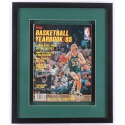 "Larry Bird Signed 14x17x1.25 Custom Framed 1985 Hoop ""Basketball Yearbook"" Magazine (JSA COA)"