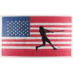 "Rodney Weng - ""America's Pastime"" 21.5x37.5 Original Oil Panting on Linen (PA LOA)"