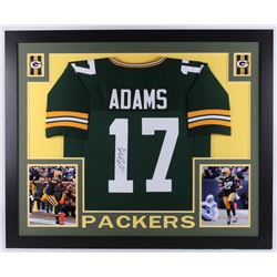 Davante Adams Signed Green Bay Packers 35x43 Custom Framed Jersey (JSA COA)