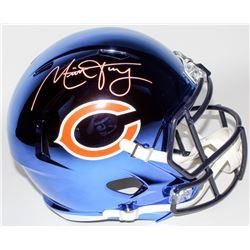 Mitchell Trubisky Signed Chicago Bears Full-Size Chrome Speed Helmet (Schwartz COA)
