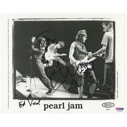 Pearl Jam 8x10 Photo Signed by (4) With Eddie Vedder, Stone Gossard, Jeff Ament  Mike McCready (PSA